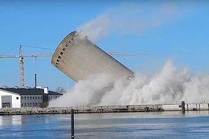 Video sự cố phá hủy bất thành tòa tháp cổ cao 52,7m