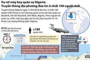 Rơi máy bay quân sự Algeria: ít nhất 100 người chết