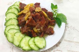 Thịt bò kho gừng - món ăn ngon khó cưỡng lại tốn cơm vô cùng