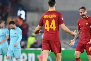 Thua Roma 0-3, Barca lần thứ 3 liên tiếp rời Champions League ở vòng tứ kết