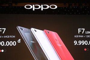 Oppo F7 tai thỏ về Việt Nam, giá từ 7,99 triệu đồng