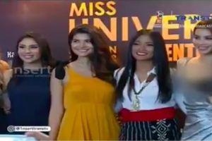 Phạm Hương bị làm mờ vòng 1 vì trang phục quá hở khi lên sóng truyền hình Indonesia