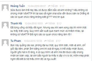Trên facebook, người tiêu dùng tẩy chay sữa từ hạt 'bẩn'