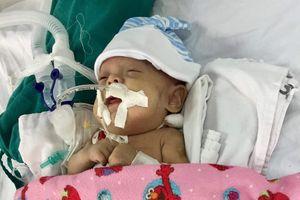 Chung tay giúp cháu bé sinh non mắc bệnh xơ phổi