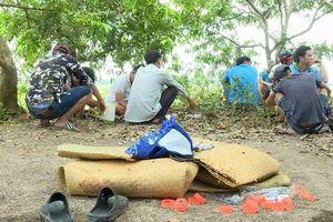 Cảnh sát băng qua cánh đồng, bắt quả tang 15 người đang đá gà ăn tiền