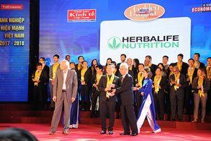 Herbalife Việt Nam nhận Giải thưởng Rồng Vàng 2018