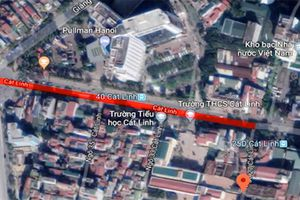 Hà Nội: Cấm hàng loạt phương tiện lưu thông trên phố Cát Linh
