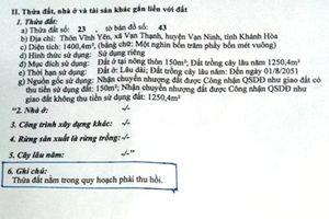Khánh Hòa: Mua nhầm hay bị lừa đảo bán đất nằm trong quy hoạch?