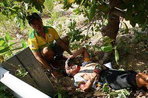 Tay đua bị tai nạn khi đổ đèo tại Cúp Truyền hình