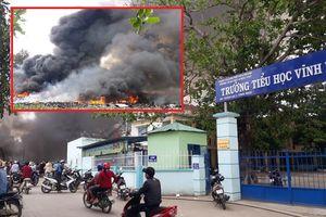 Cháy bãi phế liệu ở Nha Trang: Hơn 500 học sinh phải nghỉ học