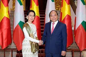 Thủ tướng chủ trì lễ đón trọng thể Cố vấn Nhà nước Myanmar Aung San Suu Kyi