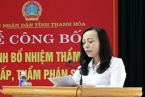 TAND Thanh Hóa trao quyết định bổ nhiệm chức danh Thẩm phán trung cấp và Thẩm phán sơ cấp