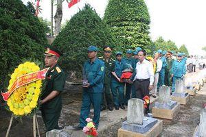 Truy điệu, an táng 9 hài cốt liệt sĩ được tìm thấy ở Quảng Trị
