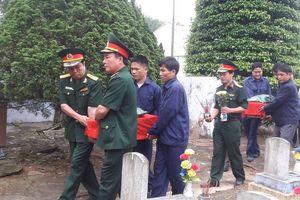 Quảng Trị: Tổ chức truy điệu và an táng 9 hài cốt liệt sĩ