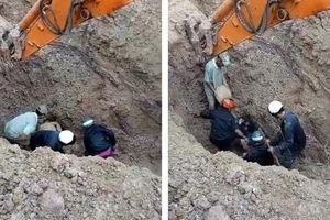 Thoát chết hy hữu khi bị vùi dưới hố sâu 2 m hơn 30 phút