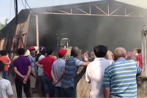 Cháy lớn tại công ty sản xuất đồ gỗ, lửa thiêu rụi 500m2 nhà xưởng