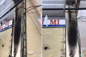 Cháy tủ thiết bị PCCC tại chợ An Đông, nghi do chập điện