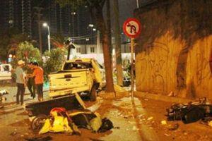 Xuất hiện clip xe 'điên' lao như tên bắn ở Sài Gòn, 7 người thương vong