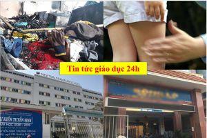 Tin tức giáo dục 24h: Thầy giáo bị tố 'đụng chạm' nữ sinh; cô giáo bắt học sinh ngậm dép