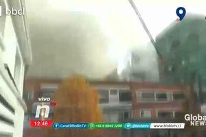 Khoảnh khắc gas rò rỉ làm nổ bệnh viện Chile gây thương vong lớn