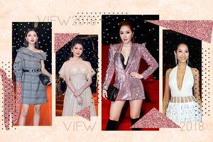 Hoàng Thùy diện đồ sexy, đối lập Mâu Thủy 'kín như bưng' dẫn đầu top sao đẹp của VIFW 2018