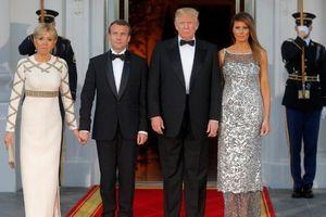 Loạt ảnh Mỹ đón chính thức Tổng thống Pháp Macron