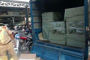 Thu giữ 30.000 bao thuốc lá nhập lậu trên xe tải