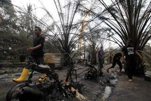 Indonesia: Cháy giếng dầu giữa khu dân cư, 59 người thương vong