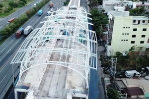 Ngắm nhà ga 'khủng' trên cao của đường sắt đô thị đầu tiên ở Sài Gòn