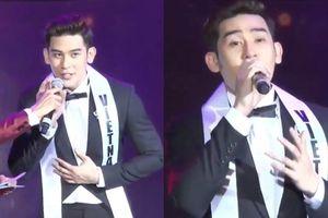 Bị 'bắt' hát khi thi ứng xử, Minh Trung trượt top 3 đáng tiếc tại Mister International 2018