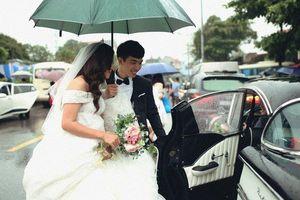 Cô dâu Hà thành chia sẻ về màn rước dâu đặc biệt bằng dàn xế cổ