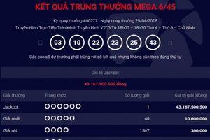 Xổ số Vietlott: Tiết lộ địa điểm phát hành vé số trúng thưởng hơn 43 tỷ đồng