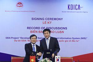 Hàn Quốc hỗ trợ phát triển Hệ thống thông tin quốc gia về đầu tư