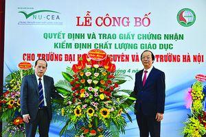 Trường Đại học TN&MT Hà Nội: Đạt chuẩn Kiểm định chất lượng giáo dục và có thêm Phân hiệu của Trường tại tỉnh Thanh Hóa