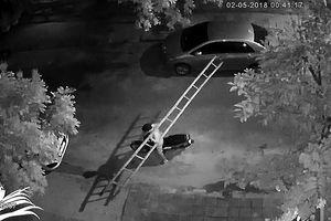 Camera ghi cảnh trộm vác thang đột nhập công trình tại Đà Nẵng