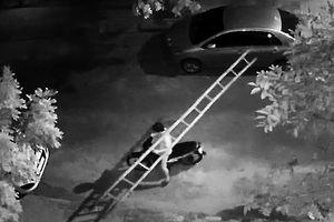 Vác thang đi trộm máy móc trong công trình