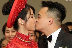 Đám cưới Diệp Lâm Anh: cô dâu xinh đẹp và chồng trẻ hôn nhau nồng nàn