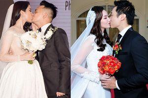 Soi 1001 kiểu hôn của sao Việt trong ngày cưới: Đa số chú rể vì mừng quá mà muốn 'nuốt chửng' cô dâu