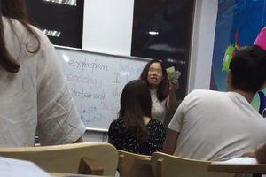 Clip giảng viên và học viên cãi nhau tay đôi gây xôn xao dư luận