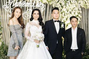 Cường Đô La và Đàm Thu Trang sánh đôi dự tiệc cưới