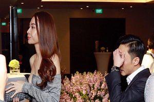 Cường Đô La - Đàm Thu Trang ngại ngần tránh né ống kính phóng viên khi xuất hiện cùng nhau tại đám cưới Diệp Lâm Anh