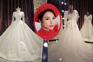 Váy cưới trị giá 200 triệu đồng của Diệp Lâm Anh có gì đặc biệt?