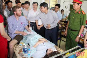 Lãnh đạo Hà Tĩnh thăm hỏi nạn nhân vụ TNGT tại Kỳ Anh