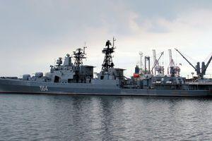Nga điều tàu chiến tập trận hải quân ở Thái Bình Dương