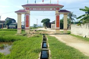 Hà Tĩnh: Cổng làng 76 triệu được xây giữa ruộng bắc qua mương nước
