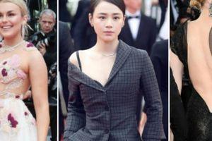 Sao nữ đua nhau hở ngực, khoe lưng trên thảm đỏ LHP Cannes 2018
