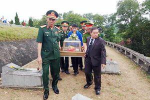 Lễ an táng hài cốt liệt sĩ quân tình nguyện và chuyên gia Việt Nam hy sinh tại Lào