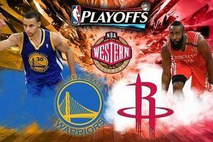 Lịch thi đấu NBA loạt trận chung kết miền Tây giữa Golden State Warriors và Houston Rockets