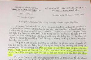 Cơ quan CSĐT Công an tỉnh Sơn La có ' tạo điều kiện' cho việc tẩu tán tài sản?