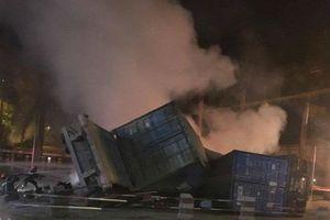 Đã xác định được danh tính 2 nạn nhân tử vong trong xe container bốc cháy